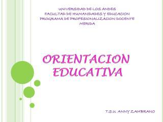 UNIVERSIDAD DE LOS ANDES FACULTAD DE HUMANIDADES Y EDUCACION