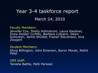 Year 3-4 taskforce report