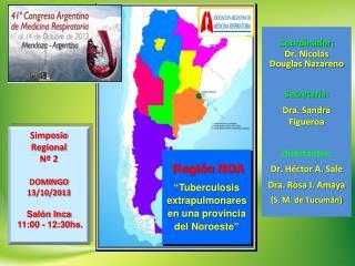Coordinador: Dr. Nicolás  Douglas Nazareno Secretaria: Dra. Sandra Figueroa Disertantes: