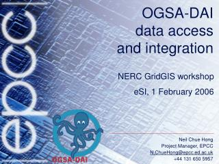 OGSA-DAI data access  and integration