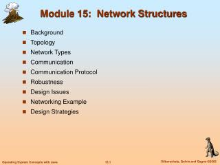 Module 15:  Network Structures