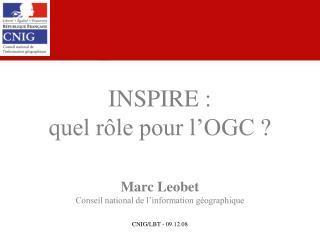 INSPIRE : quel rôle pour l'OGC ?