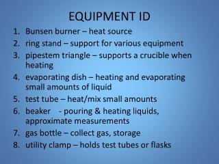 EQUIPMENT ID
