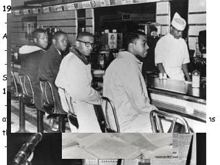 1957:  - SCLC formed, fights bus segregation in Tallahassee and Atlanta.