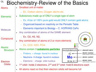 Biochemistry-Review of the Basics