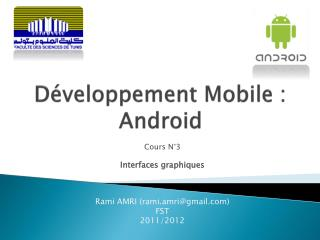 D�veloppement Mobile : Android