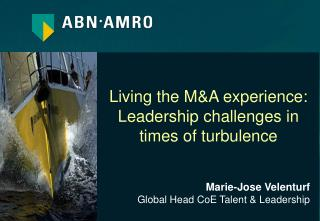 Marie-Jose Velenturf Global Head CoE Talent & Leadership