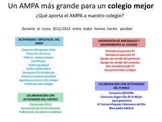 Un AMPA más grande para un  colegio mejor