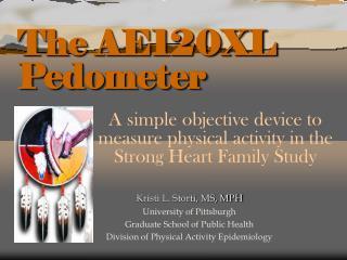 The AE120XL Pedometer