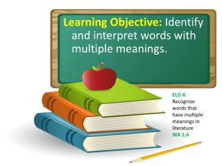 Learning Objective: Identify and interpret words with multiple meanings.