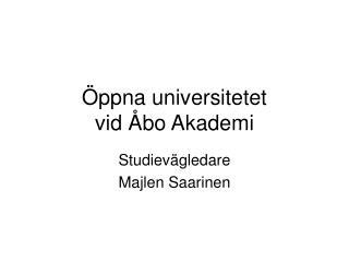 Öppna universitetet  vid Åbo Akademi