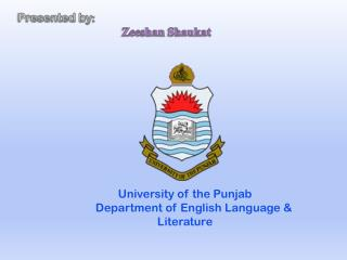 University of the Punjab       Department of English Language & Literature