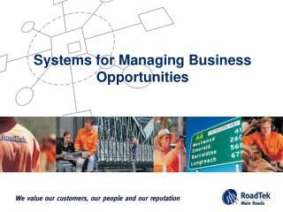 Systems for Managing Business Opportunities