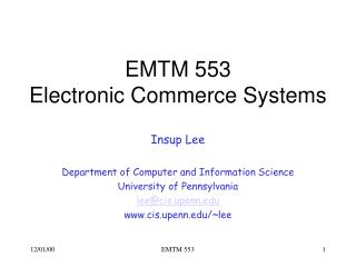 E-commerce systems