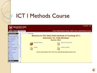 ICT I Methods Course