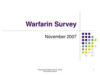 Warfarin Survey