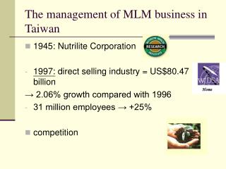 The management of MLM business in Taiwan