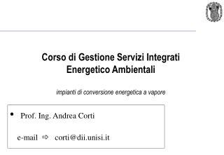 Prof. Ing. Andrea Corti  e-mail     cortidii.unisi.it