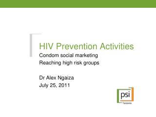 HIV Prevention Activities