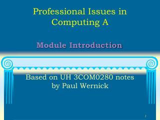Module Introduction