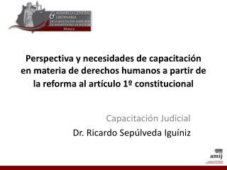 Capacitaci�n Judicial  Dr. Ricardo Sep�lveda Igu�niz