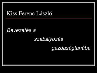 Kiss Ferenc László