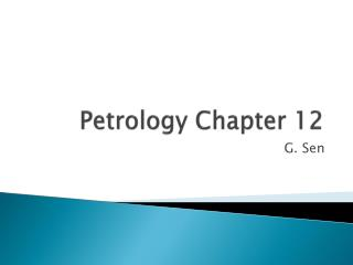 Petrology Chapter 12