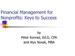 Financial Management for Nonprofits: Keys to Success