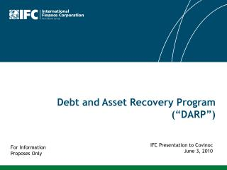 "Debt and Asset Recovery Program (""DARP"")"