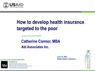 How to develop health insurance targeted to the poor