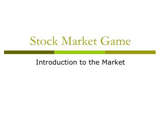 Stock Market Game