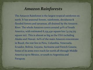 Amazon Rainforests
