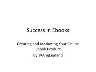 Success In Ebooks