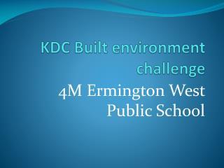 KDC Built environment challenge
