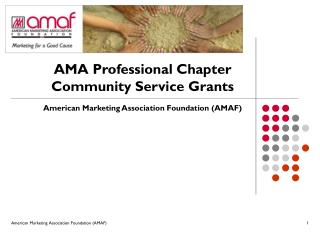 AMA Professional Chapter Community Service Grants