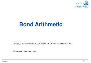 Bond Arithmetic