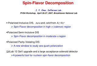 Spin-Flavor Decomposition