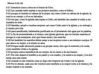 Efesios 5:21-33