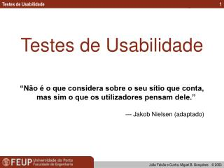 Testes de Usabilidade