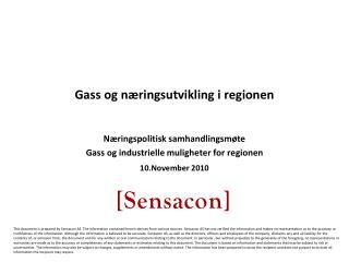 Gass og næringsutvikling i regionen