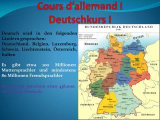Cours d'allemand I Deutschkurs  I