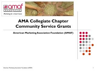 AMA Collegiate Chapter Community Service Grants