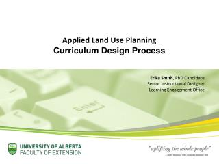Applied Land Use Planning Curriculum Design Process