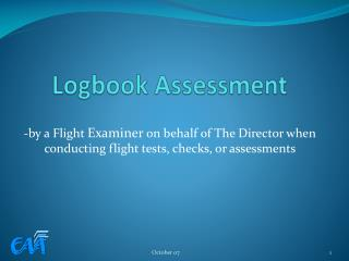 Logbook Assessment