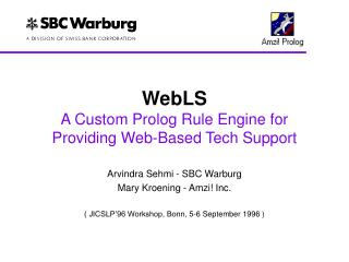 WebLS A Custom Prolog Rule Engine for  Providing Web-Based Tech Support