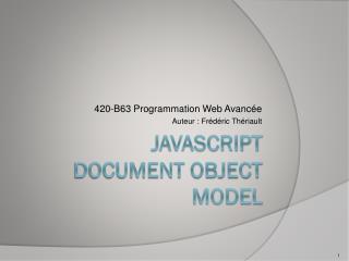Javascript Document object model