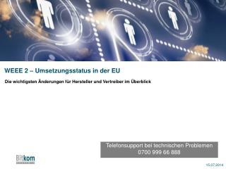 WEEE 2 – Umsetzungsstatus in der EU