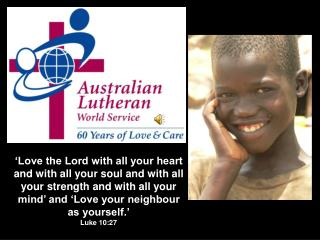 Through God's love, ALWS helps poor and oppressed people: Get back on their feet again;