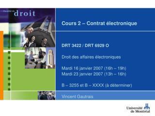 Cours 2 – Contrat électronique