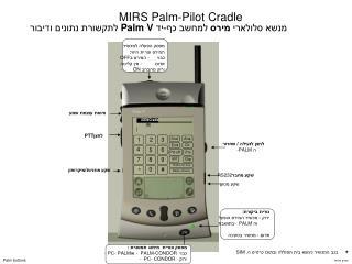 MIRS Palm-Pilot Cradle